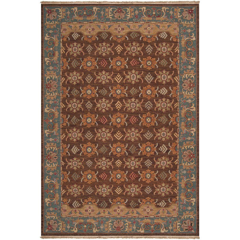 Artistic Weavers Cheverny Peacock Green 4 ft. x 6 ft. Area Rug