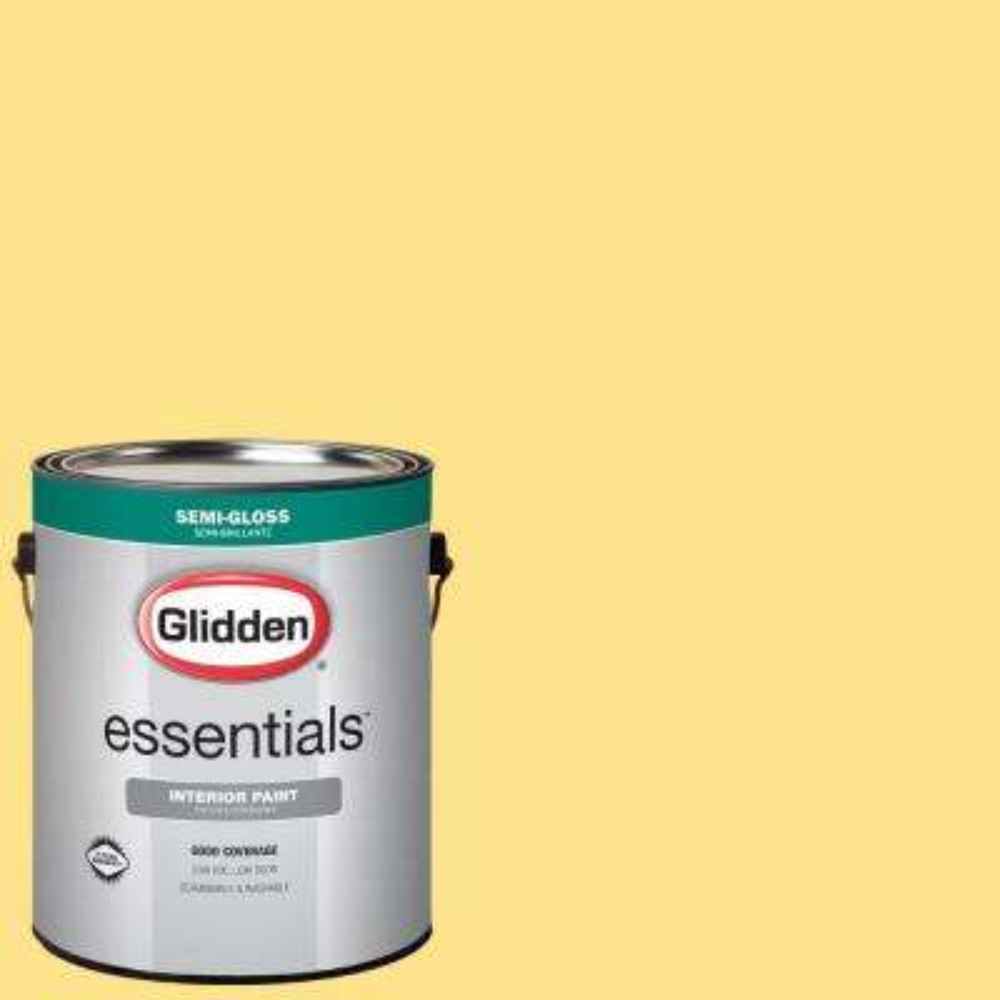 1 gal. #HDGY41U Fresh Pineapple Semi-Gloss Interior Paint