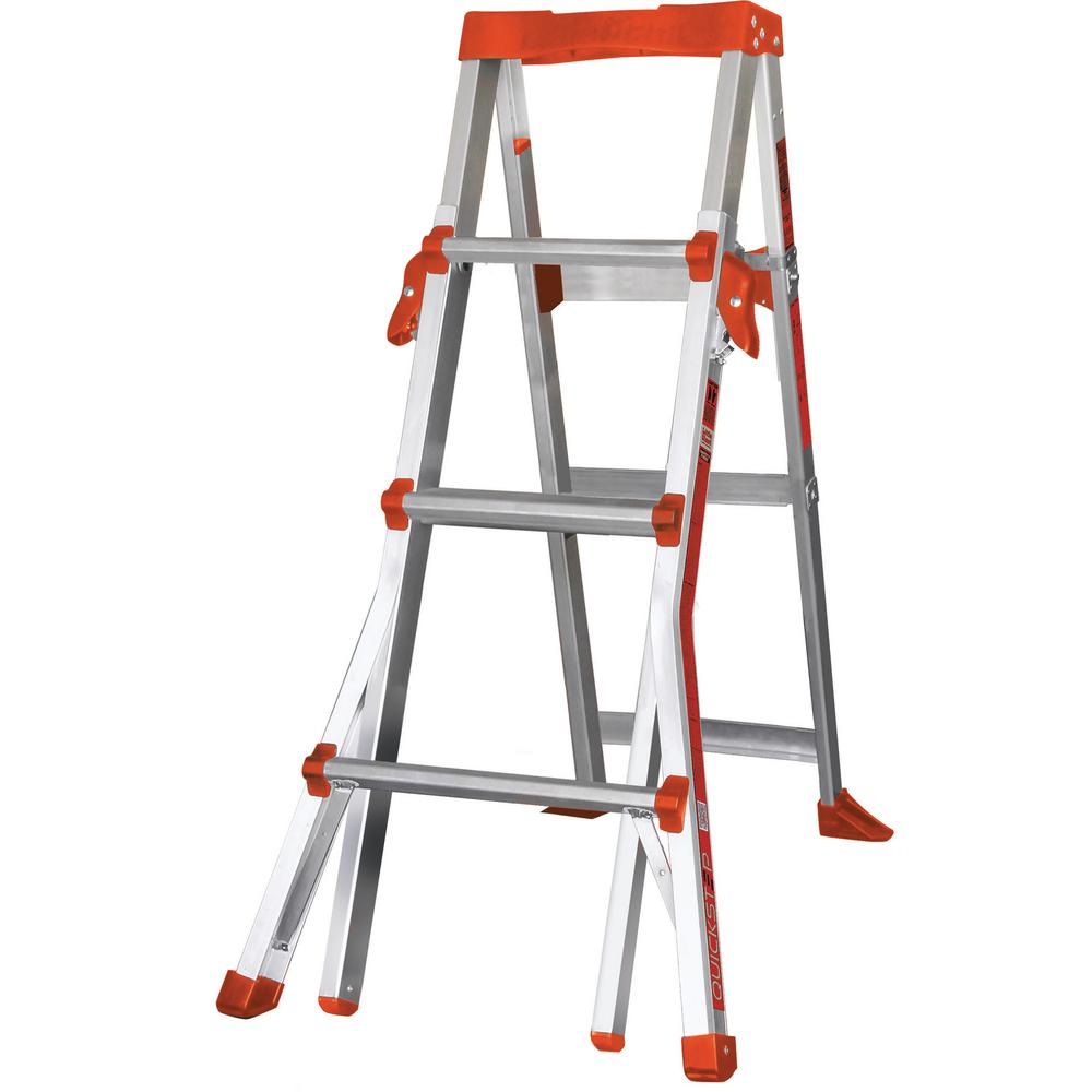 QuickStep 4 ft. - 6 ft. Aluminum Ladder Type IA 300