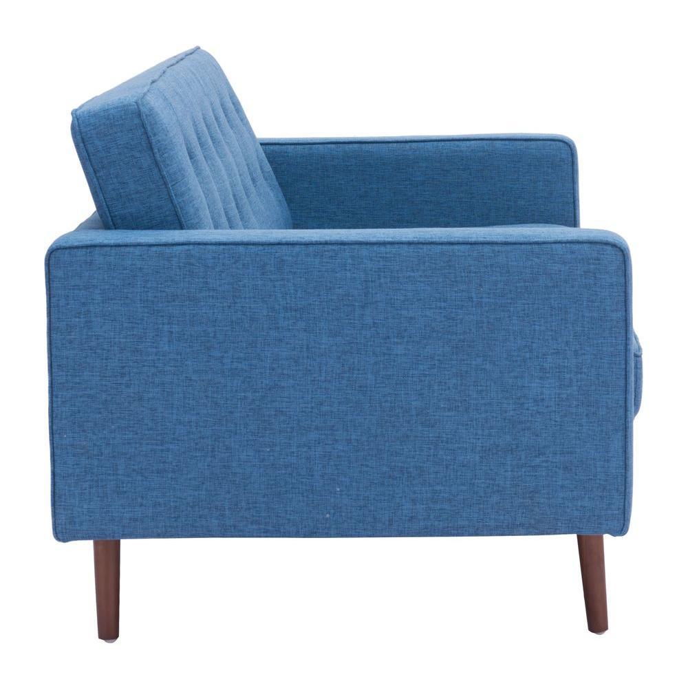 ZUO - Puget Blue Cotton Linen Blend Sofa