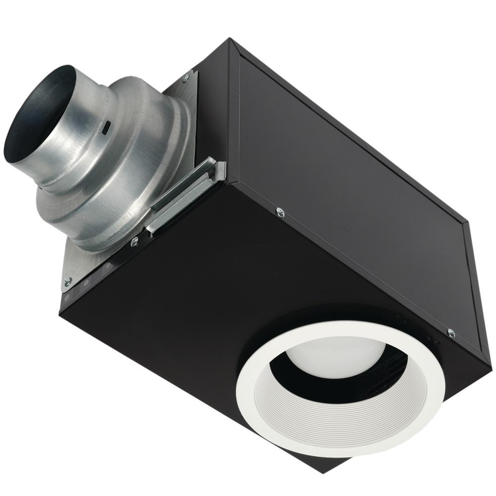 Kitchen Ceiling Exhaust Fan With Light: Panasonic Whisper Recessed Architectural Grade 80CFM