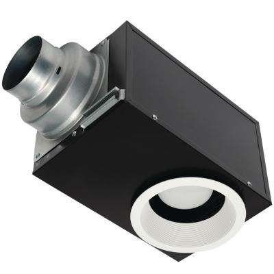 Whisper Recessed Architectural Grade 80CFM Ceiling Flush Mount Dimmable Ventilation Exhaust Fan with LED Light