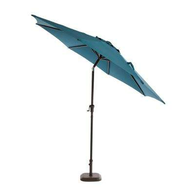 9 ft. Aluminum Patio Umbrella in Charleston with Tilt