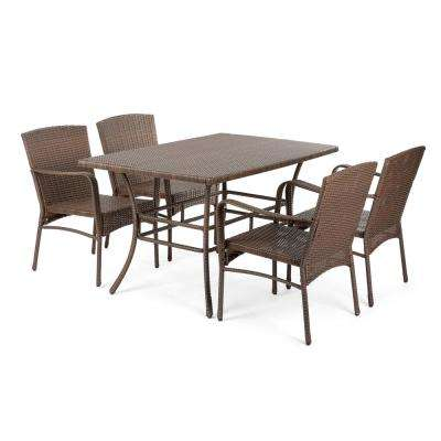 Leisure 5-Piece Wicker Outdoor Dining Set