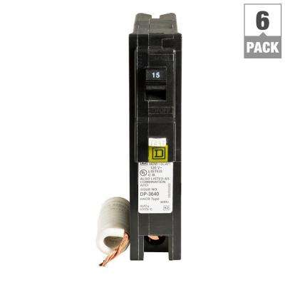 Homeline 15 Amp Single-Pole Combination Arc Fault Circuit Breaker (6-Pack)
