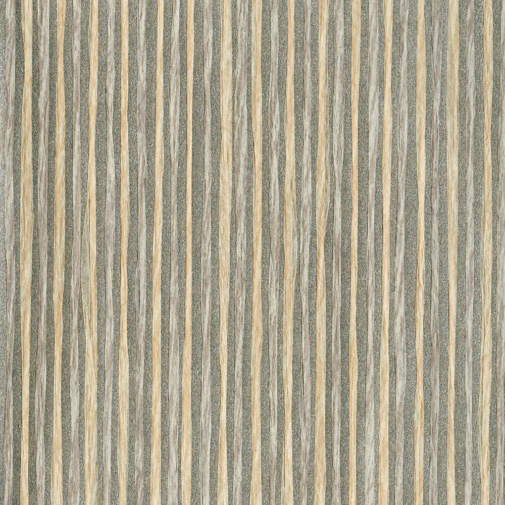 2693 30273 Light Grey Grasscloth: Kenneth James Fuso Sterling Paper Weave Wallpaper Sample