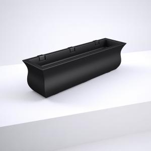 36 in. x 9.7 in. Black Plastic Window Box