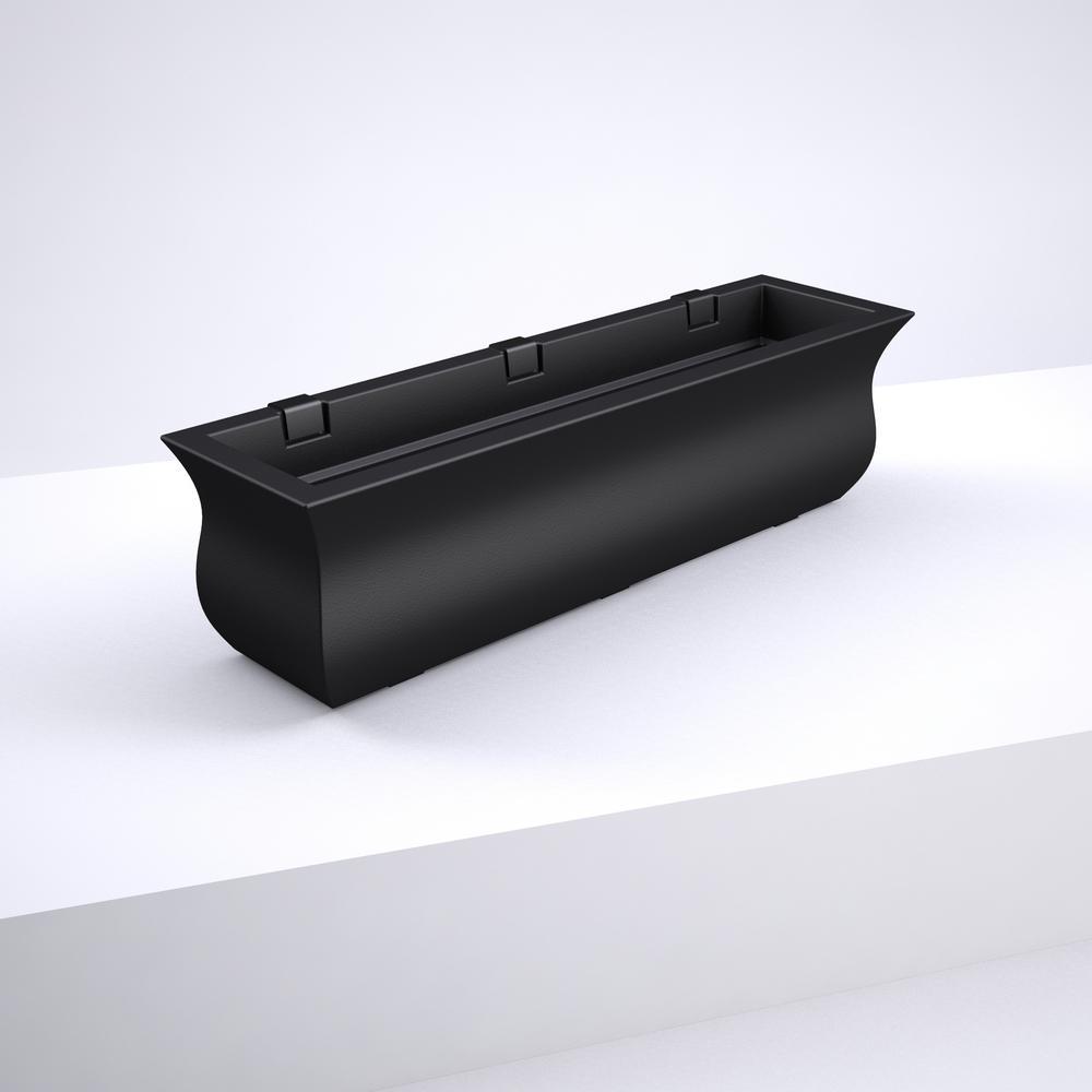 36 in. x 9.7 in. Black Plastic Window Box