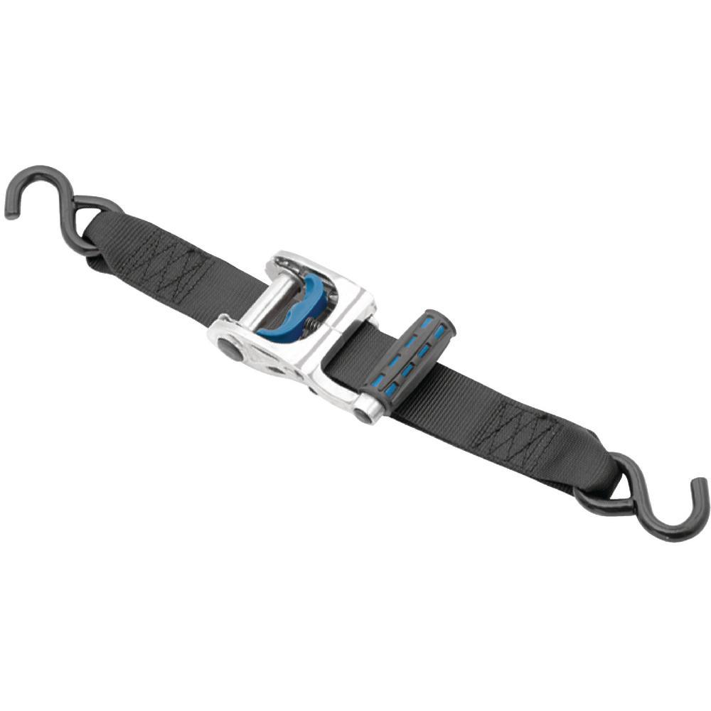 2 in. x 10 ft. 333 lbs. Gunwale Max Grip Ratchet Tie-Down Load Capacity in Stainless Steel