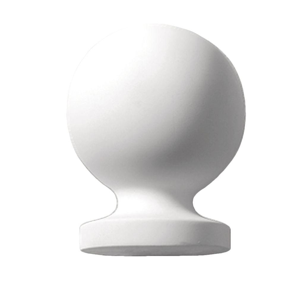 Fypon 12-7/8 in. x 10 in. x 10 in. Polyurethane Post Ball Top Finial