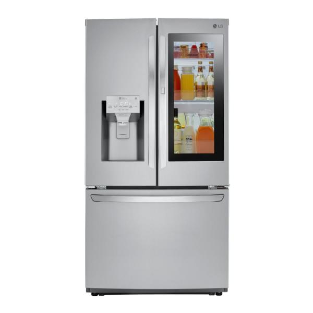 LG Electronics 22.1 cu. ft. French Door Smart Refrigerator with InstaView Door-in-Door in Stainless Steel, Counter Depth
