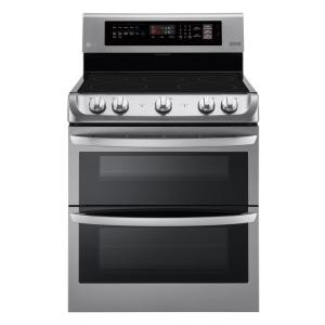 LG Electronics 7.3 cu. ft. Double Oven Electric Range with ProBake Convection Oven and EasyClean in Stainless Steel by LG Electronics