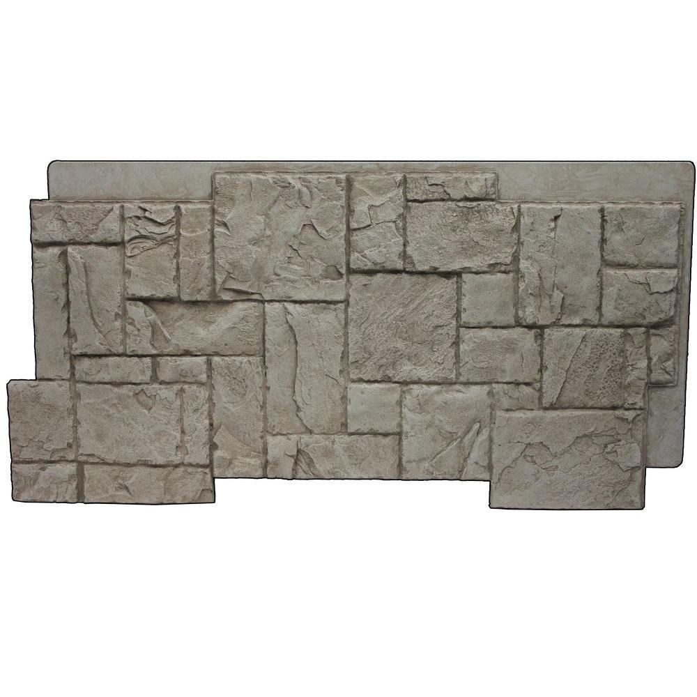 Creamy Beige 24-3/4 in. x 48-3/4 in. x 1-1/4 in. Faux Windsor Stone Panel