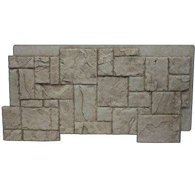 Faux Windsor Stone 24-3/4 in. x 48-3/4 in. x 1-1/4 in. Panel Creamy Beige