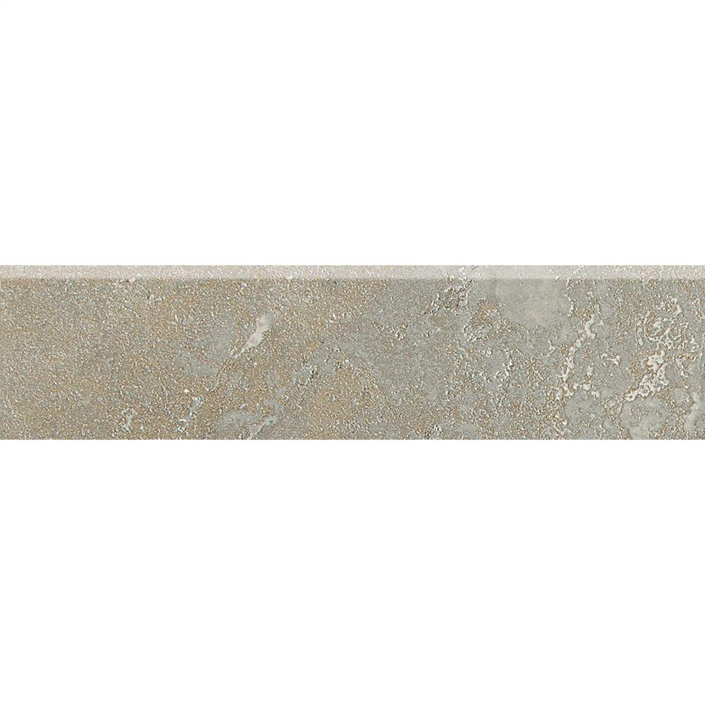 Sandalo Castillian Gray 3 in. x 12 in. Ceramic Bullnose Wall