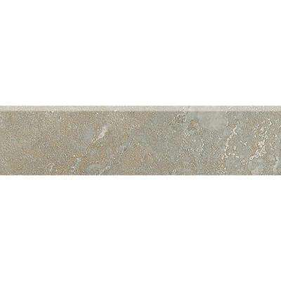 Sandalo Castillian Gray 3 in. x 12 in. Ceramic Bullnose Wall and Floor Tile