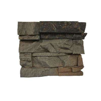 Stacked Stone Kenai 11 in. x 11 in. Faux Stone Siding Sample