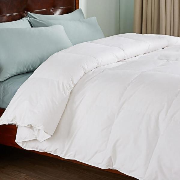 All Season Year Round Warmth White King Down Comforter