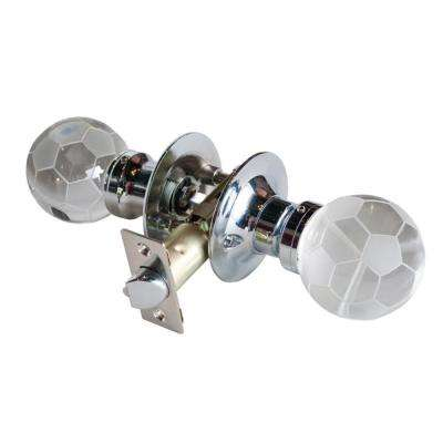 Soccer Ball Crystal Chrome Passive Door Knob with LED Mixing Lighting Touch Activated