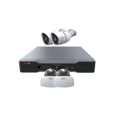 Aero HD 1080p 4-Channel Video Security System with 4 Indoor/Outdoor Cameras