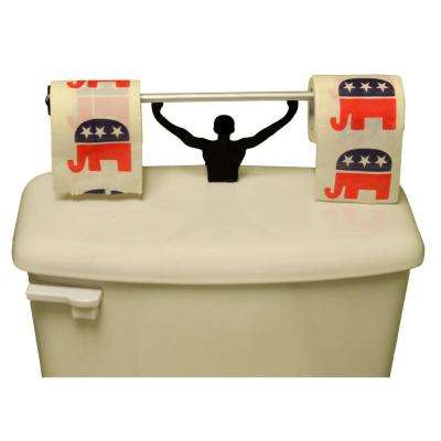 Republican Party Logo Toilet Paper in Multi-Color with Strong Man Holder Gift Set