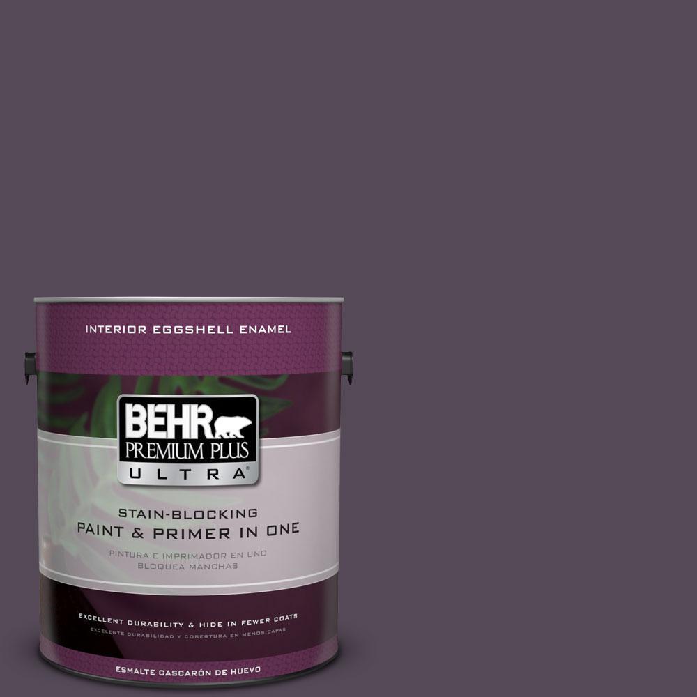 BEHR Premium Plus Ultra 1-gal. #670F-7 Blackberry Wine Eggshell Enamel Interior Paint