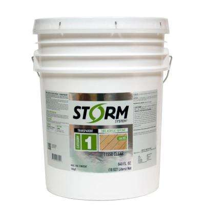 Category 1 5 gal. Clear Exterior Premium 100% Acrylic Latex Top Coat