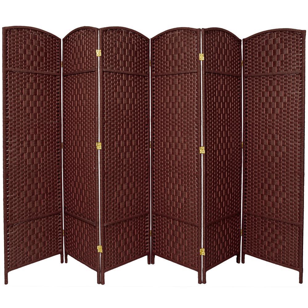 7 ft. Dark Red 6-Panel Room Divider