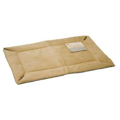 32 in. x 48 in. Large Tan Self-Warming Crate Pad