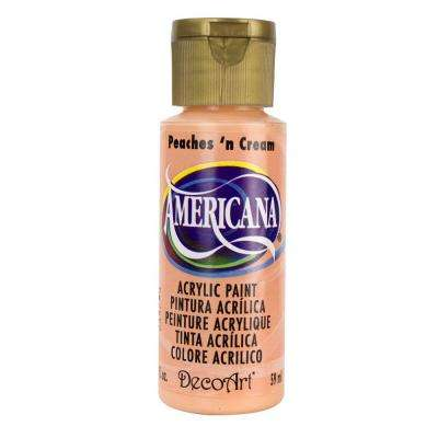 Americana 2 oz. Peaches 'n Cream Acrylic Paint