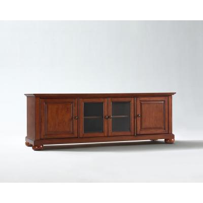 Alexandria 60 in. Cherry Wood TV Stand Fits TVs Up to 60 in. with Storage Doors