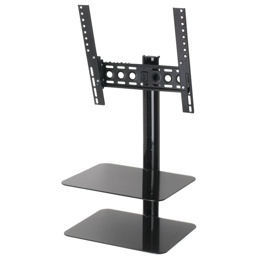 Tilt and Turn Flat Panel TV Mount with AV Shelving for