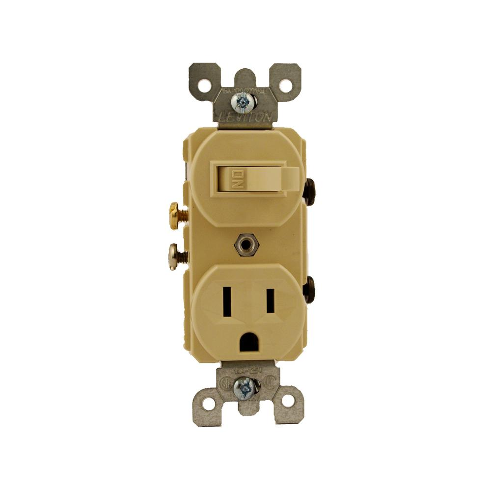 ivory leviton electrical outlets receptacles 5225 i 64_1000 leviton 15 amp commercial grade combination single pole toggle