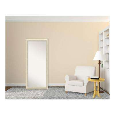 Country White wash Wood 29 in. W x 65 in. H Distressed Floor/Leaner Mirror