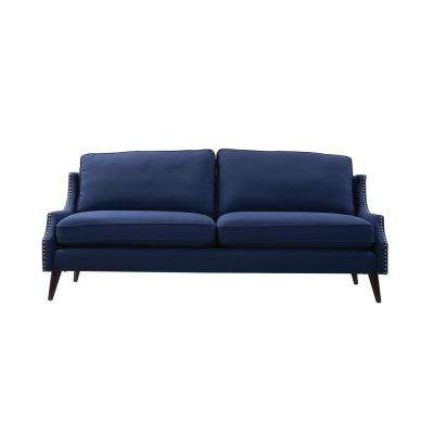 Ariana Midnight Blue Upholstered Sofa