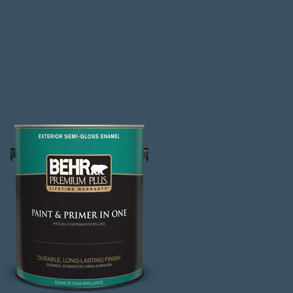 1 gal. #PPU13-20 Restless Sea Semi-Gloss Enamel Exterior Paint