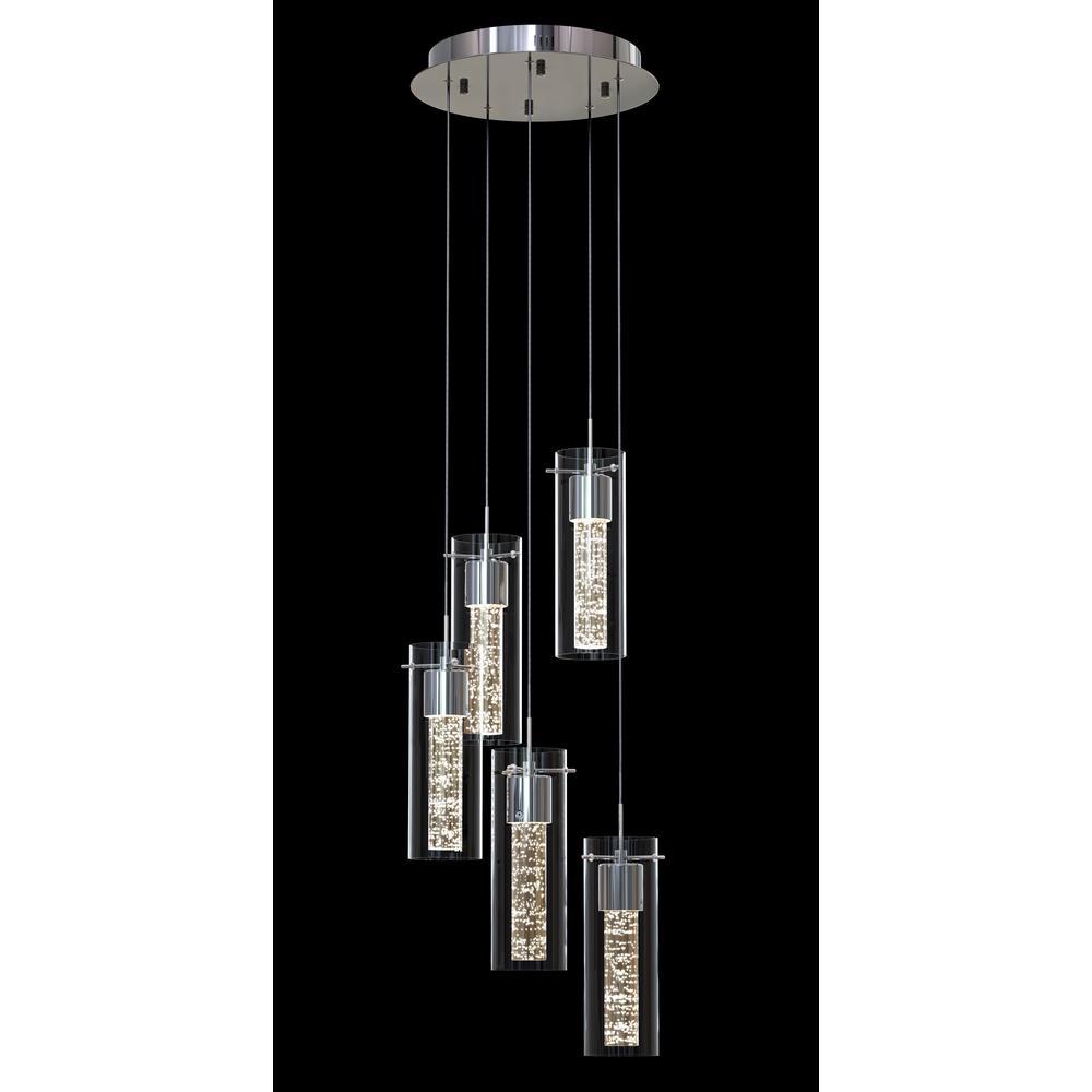 Essence 30-Watt Chrome Integrated LED Pendant