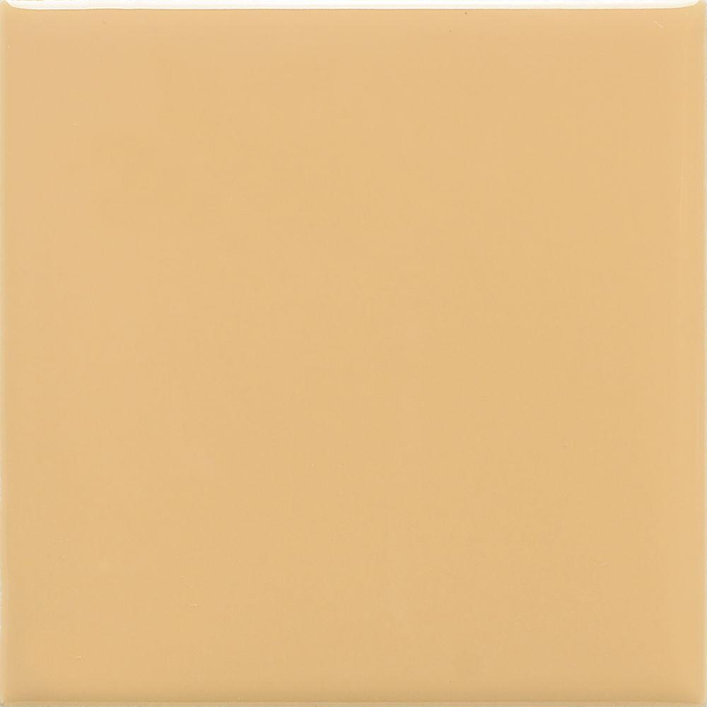 Daltile SemiGloss Luminary Gold In X In Ceramic Wall - 4x4 white tile with gold specks