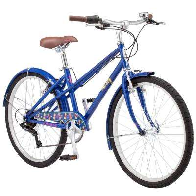 24 in. Girl's Bike for Ages 8-Years to 12-Years in Navy Blue