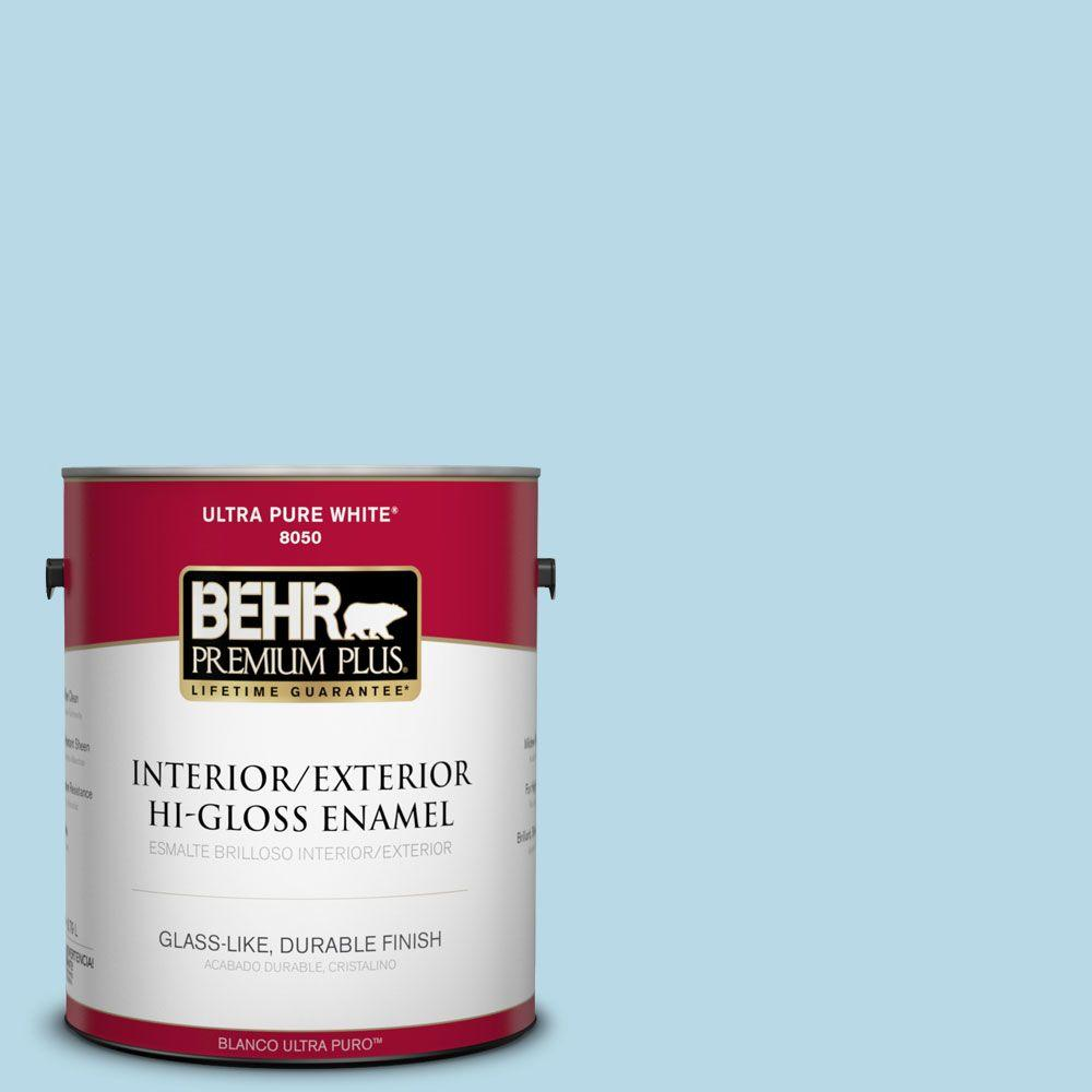 1-gal. #M490-1 Breezy Blue Hi-Gloss Enamel Interior/Exterior Paint