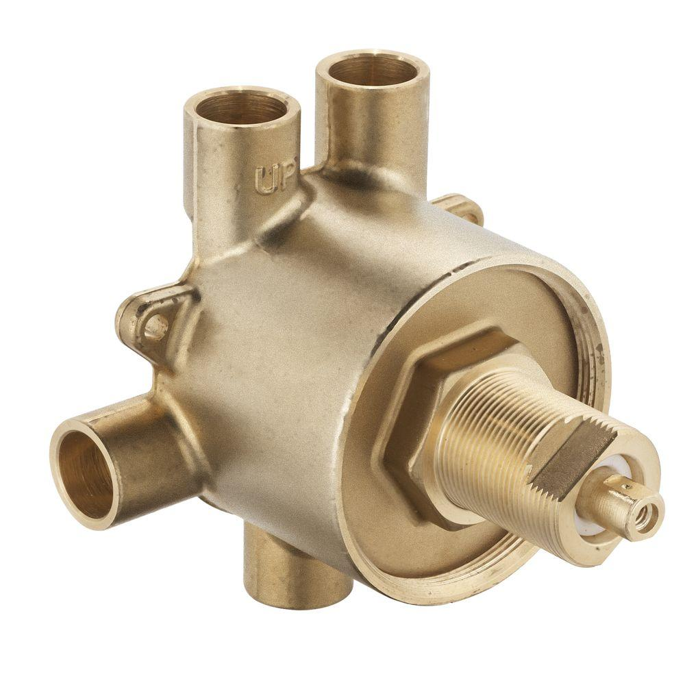 Brass Commercial 3-Function Transfer Shower Valve - 1/2 in. CC Connection
