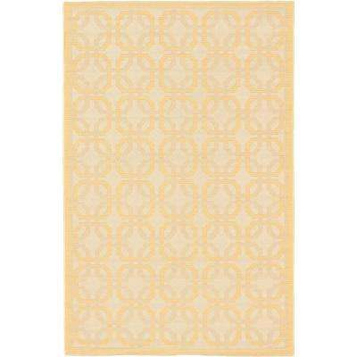 Ankara Ivory, Light Gold 7 ft. x 9 ft. Area Rug
