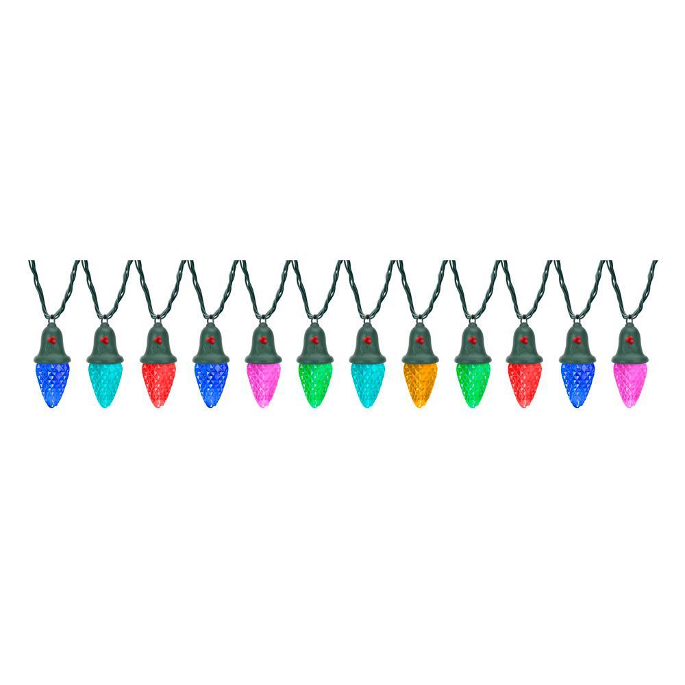 12.5 ft. 12-Light Christmas Color Changing Light Show String C9 Shape Set