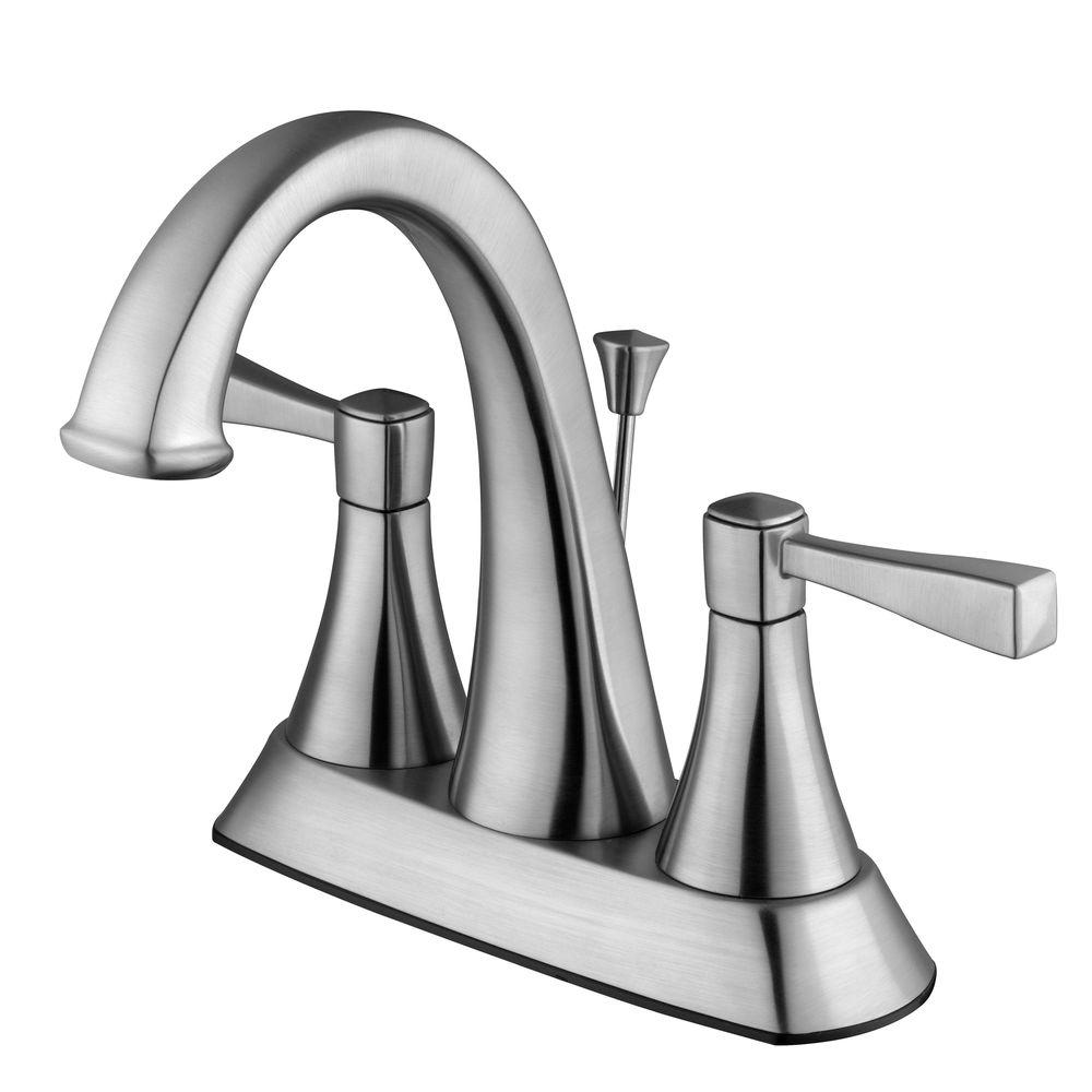 Design House Perth 4 in. Centerset 2-Handle Bathroom Faucet in Satin ...