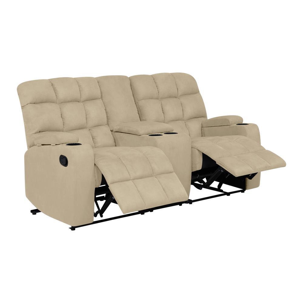 Strange Prolounger 2 Seat Khaki Microfiber Tufted Wall Hugger Pdpeps Interior Chair Design Pdpepsorg