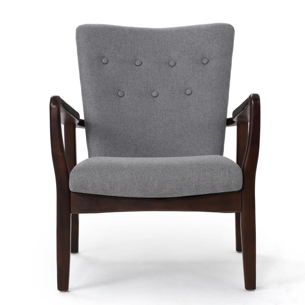 Becker Grey Fabric Arm Chair (Set of 2)