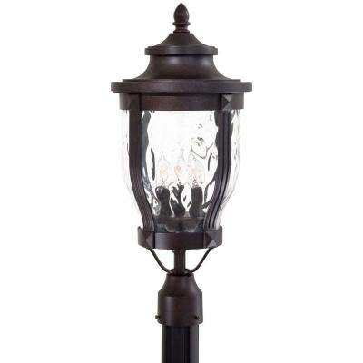 Merrimack 3-Light Corona Bronze Outdoor Post Lantern