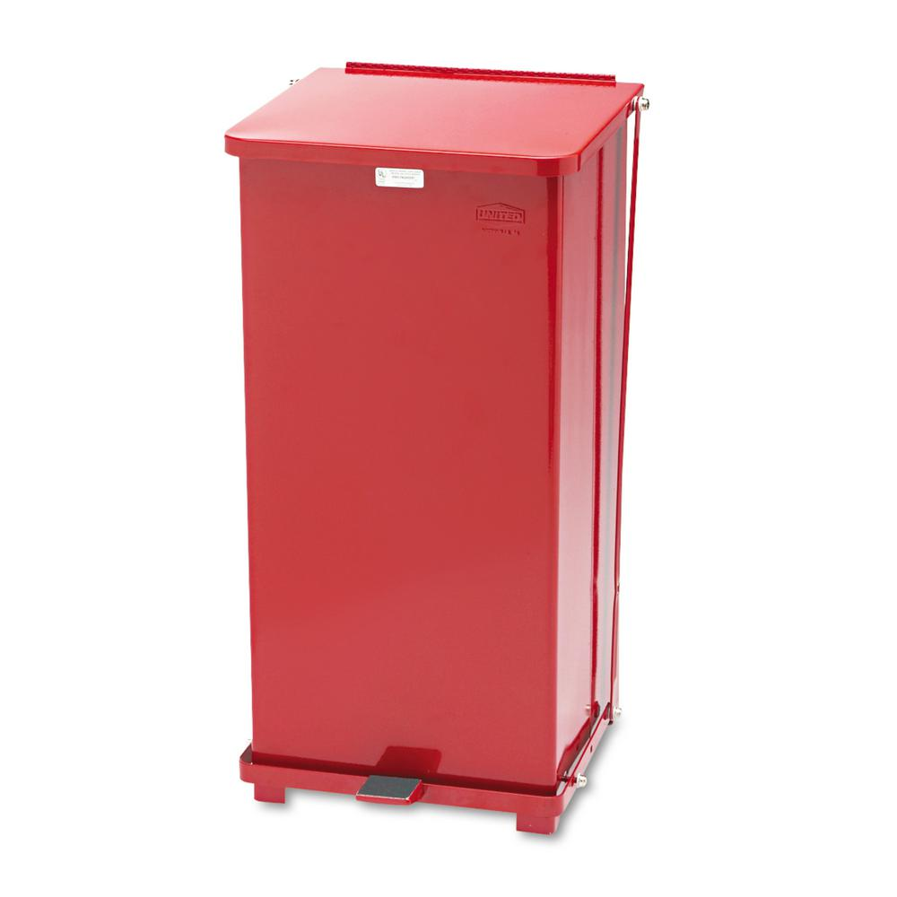 Rubbermaid Commercial Products Defenders 24 Gal Red Step