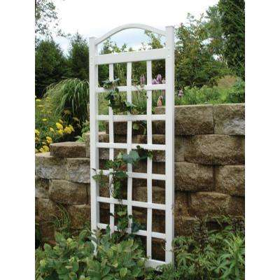 76 in. x 28 in. White Vinyl PVC Cambridge Trellis
