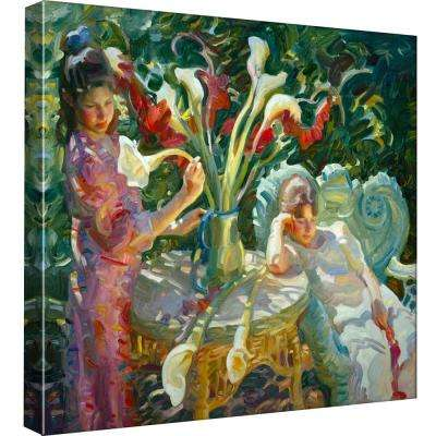 15 in. x 15 in. ''Easter Lilies'' Printed Canvas Wall Art